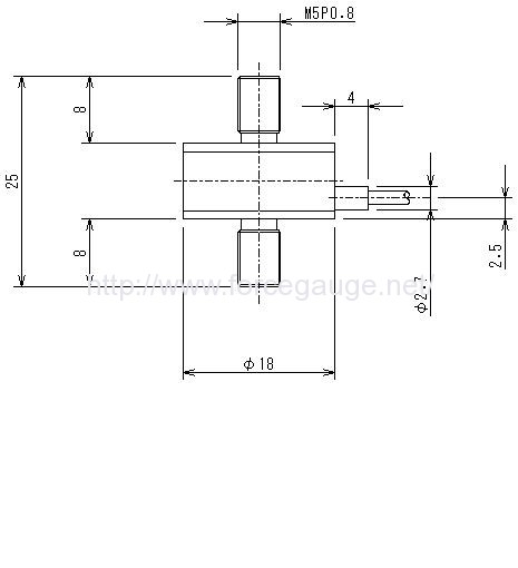 Dimensions for LMU series load cells
