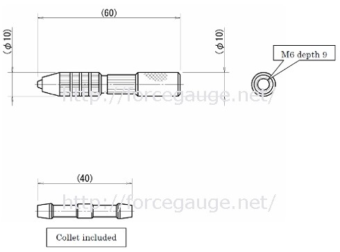 Dimensions for CP-150N Pin Grip