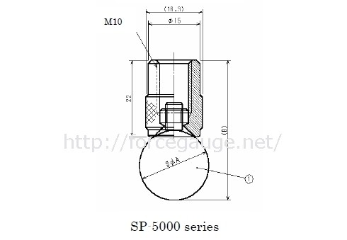 Dimensions for SP Spherical Compression Jig