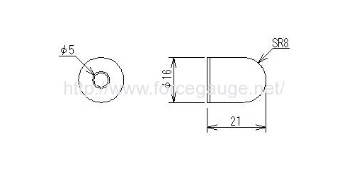Dimensions for UR series Urethane spherical compression jig