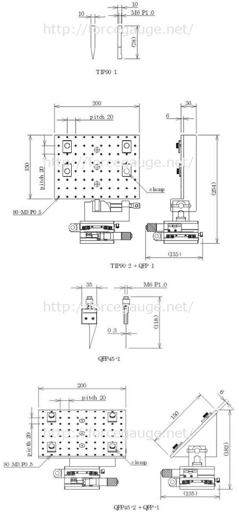 Dimensions for LF Attachment for Soldering Strength Test
