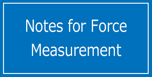 Notes for Force Measurement